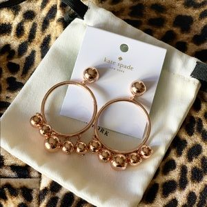 New Kate Spade Rose Gold Plated Ball Bauble Drop